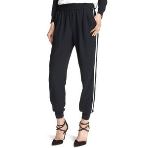 Joie Mariner B. Tuxedo Track Pants Joggers Black